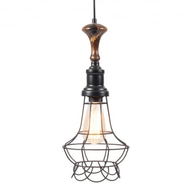 Antoine Industrial Pendant Cage Light - Geometric
