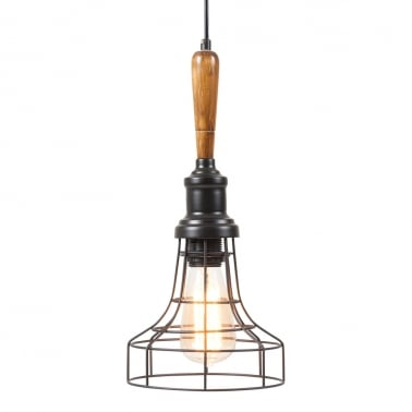 Antoine Industrial Pendant Cage Light - Bowl