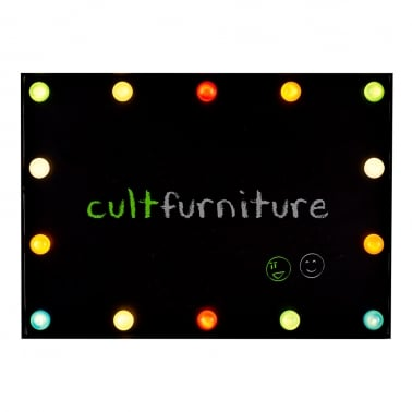 Cinematic LED Memo Chalk Board - Multicoloured