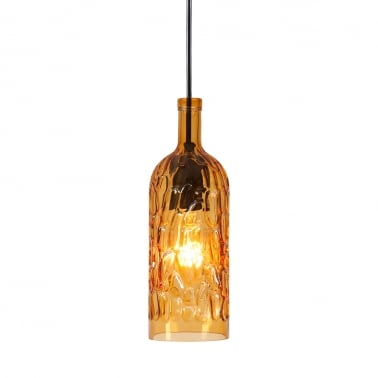 Chardonnay Decanter Hanging Light - Amber