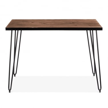 Hairpin Rectangular Dining Table - Walnut 107cm
