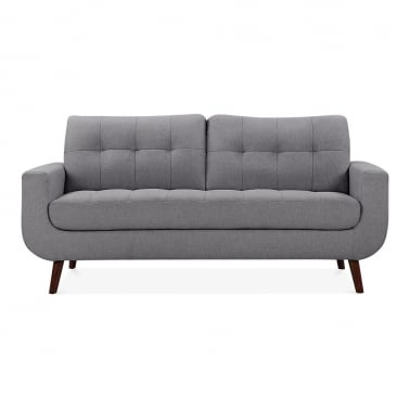 Sander 3 Seater Sofa, Fabric Upholstered, Grey