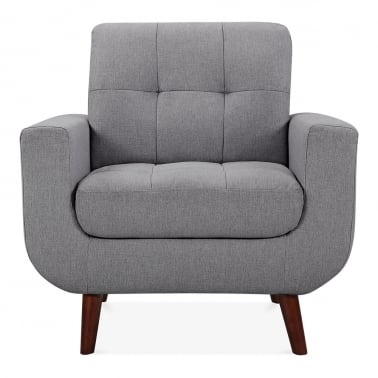 Sander Armchair Fabric Upholstered, Grey