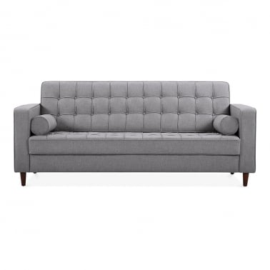 Clifford 3 Seater Sofa, Fabric Upholstered, Grey