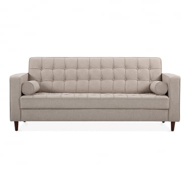 Clifford 3 Seater Sofa, Fabric Upholstered, Cream