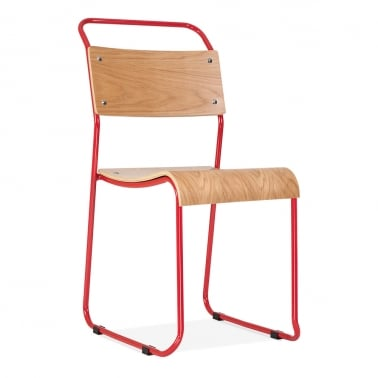 Bauhaus Stackable Chair - Red
