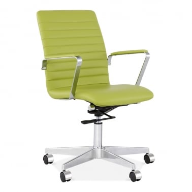 Barclay Office Chair with Ribbed Back - Apple Green