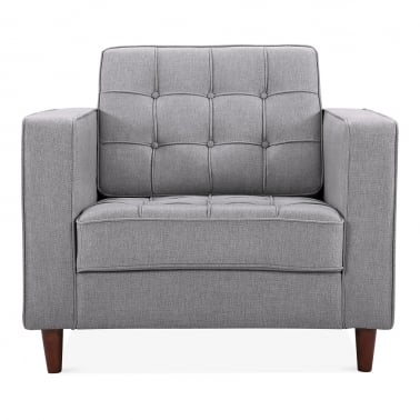 Clifford Armchair, Fabric Upholstered, Grey