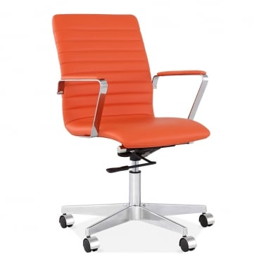 Barclay Office Chair with Ribbed Back - Orange