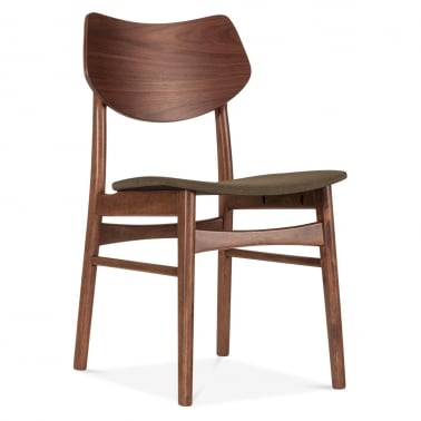 Flynt Upholstered Dining Chair - Brown