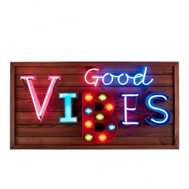 Good Vibes LED Sign