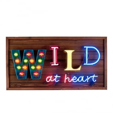 Wild at Heart LED Sign