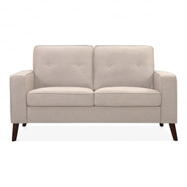 Madison 2 Seater Small Sofa, Fabric Upholstered, Cream