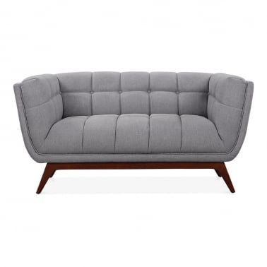 Magnus 2 Seater Loveseat Sofa, Fabric Upholstered, Grey