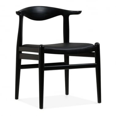 Bruno Dining Chair - Black / Black Seat