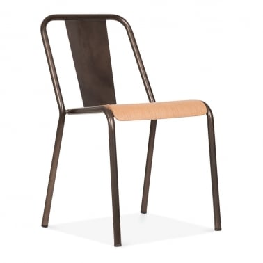 Claude Bistro Chair - Gunmetal