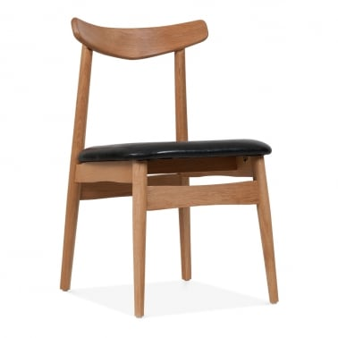 Willow Dining Chair - Brown / Black Seat