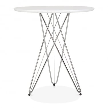 Eiffel Metal Side Table - White