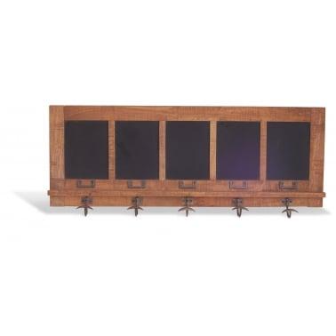 Chalkboard Coat Hanger, Mango Wood