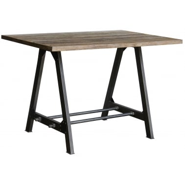 RE-engineered Desk / Table 120 x 80 Teak & Iron