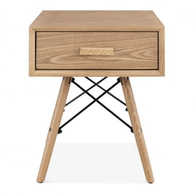 Hazel Side Table with Drawer - Natural