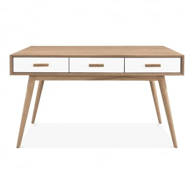 Molander Home Office Desk, Ash Wood, Natural