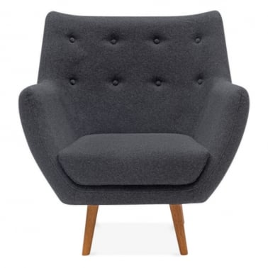 Poet Lounge Armchair - Dark Grey