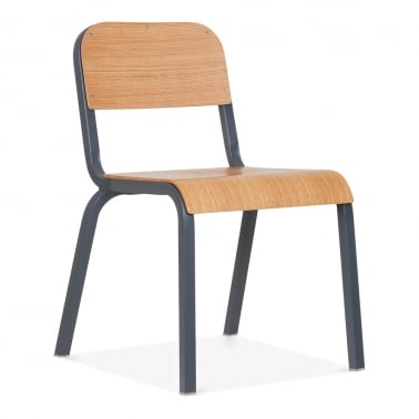 Elementary Metal Chair - Grey