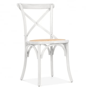 Crossed Back Bistro Chair - White