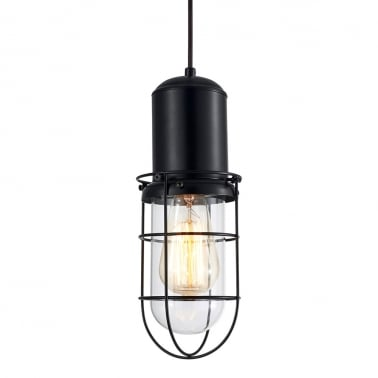 Portside Caged Pendant Light - Clear