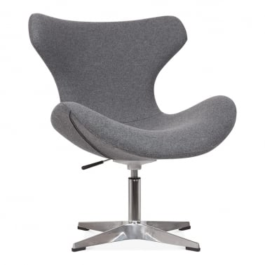 Vegas Lounge Chair with Aluminium Leg - Grey