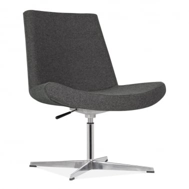 Mod Lounge Chair With Aluminium Leg - Dark Grey
