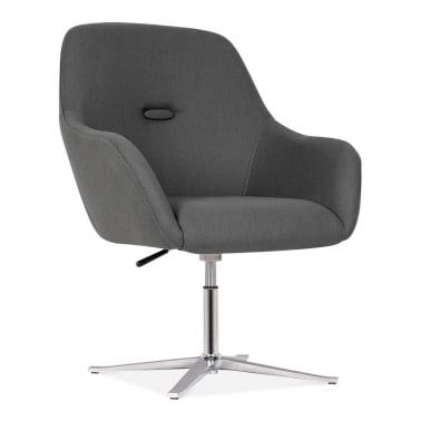 Hendrix Chair With Aluminium Leg - Dark Grey