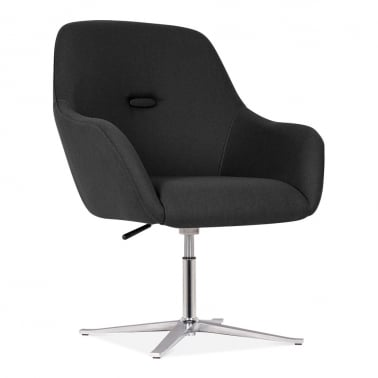 Hendrix Chair With Aluminium Leg - Black