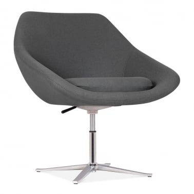 Melody Lounge Chair With Aluminium Leg - Dark Grey
