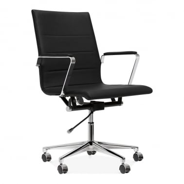Ellington Office Chair in PU Leather - Black