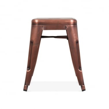 Tolix Style Metal Stool - Copper 45cm