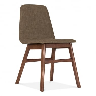 Amara Upholstered Dining Chair - Brown