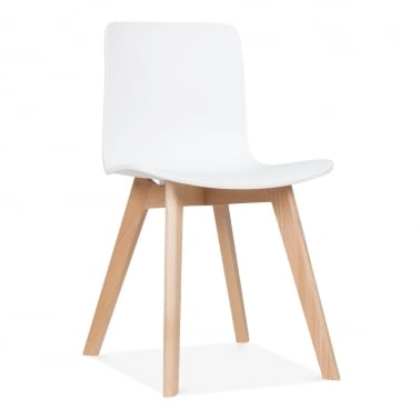 Andersen Dining Chair with Beech Legs - White