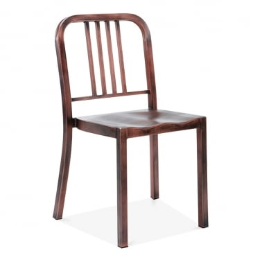 Metal Dining Chair 1006 - Brushed Copper