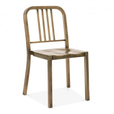 Metal Dining Chair 1006 - Antique Brass