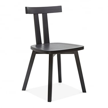 Rua Wooden Dining Chair - Dark Grey