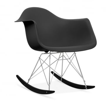 Black RAR Style Rocker Chair