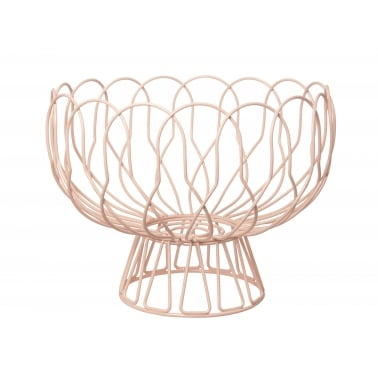 Wire Fruit Bowl - Pastel Peach