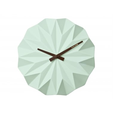 Origami Style Ceramic Wall Clock - Turquoise