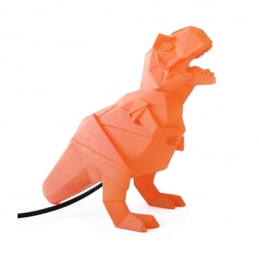 Geometric LED T-Rex Lamp - Orange