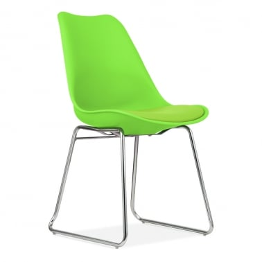 Lime Green Dining Chairs with Soft Pad Seat