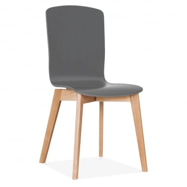 Hemming Dining Chair With Plywood Seat - Grey