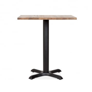 Galant Square Cafe Table - Black / Natural Finish 70cm