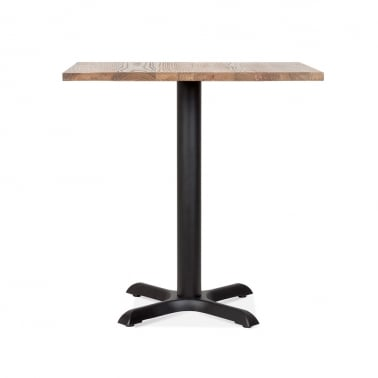 Galant Square Cafe Table - Black / Natural Finish 80cm